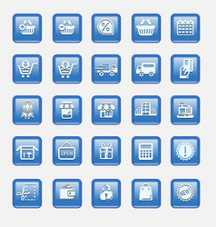 set collection of modern icons vector image vector image