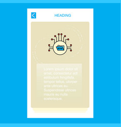 Shared folder mobile vertical banner design design vector