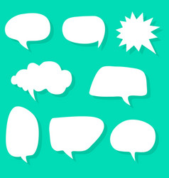 speech bubble variation set vector image