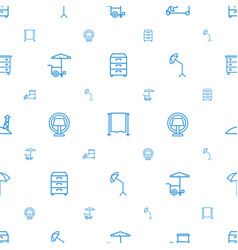 Stand icons pattern seamless white background vector