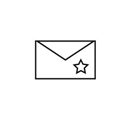 starred mail icon vector image