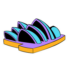 Sydney opera house icon cartoon vector
