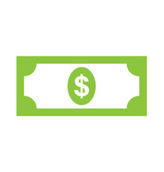 usa dollar icon vector image