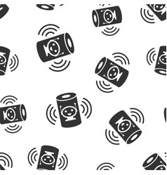 Voice assistant icon seamless pattern background vector
