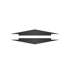 wide up and down arrow icon element of web icon vector image
