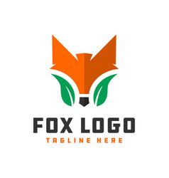 Wild fox animal logo vector
