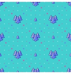 Winter landscape seamless pattern holiday vector