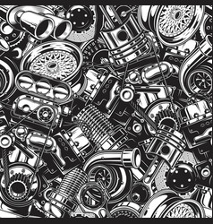 Automobile car parts seamless pattern vector