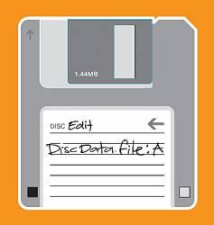 floppy disc illustration vector image vector image