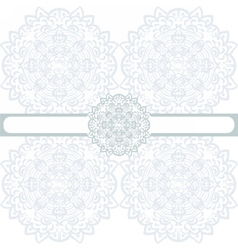 floral round border ornament vector image