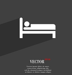 Hotel icon symbol Flat modern web design with long vector image