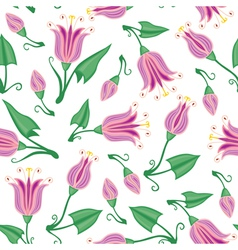 pink flower pattern vector image vector image