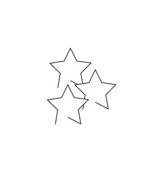 stars line icon vector image vector image