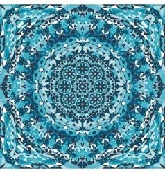 blue ornamental kaleidoscope pattern vector image vector image