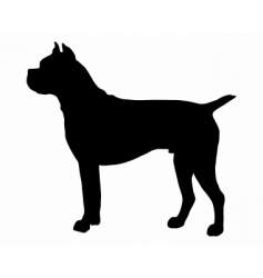 german boxer dog silhouette vector image vector image