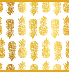 gold white pineapples geometric vector image