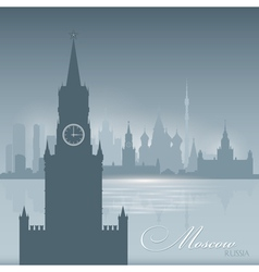 Moscow Russia skyline city silhouette Background vector image vector image