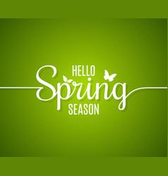 spring logo line concept hello spring lettering vector image