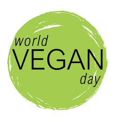 vegan day colorfull vector image vector image