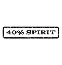 40 percent spirit watermark stamp vector image