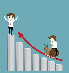 Business man the winner vector image