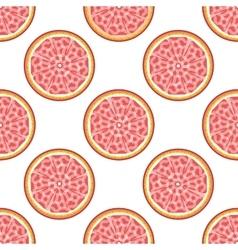 Grapefruit abstract seamless pattern vector
