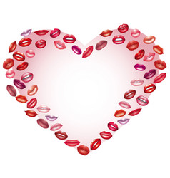 heart of kisses design element on the day of vector image vector image