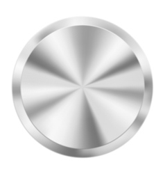 Metal round button vector image