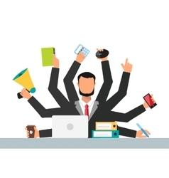 Office job stress work vector image vector image