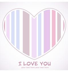 Valentines Day heart retro invitation postcard vector image vector image