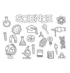 science elements hand drawn set vector image vector image
