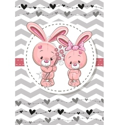 Two Rabbits vector image vector image