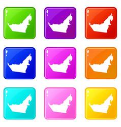united arab emirates map set 9 vector image