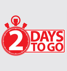 2 days to go red label vector