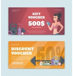 a gift certificate vector image
