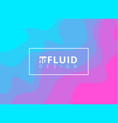 Abstract blue and pink fluid design background vector