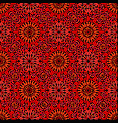 Abstract red seamless kaleidoscope pattern vector