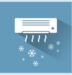 air conditioner cooling icon vector image
