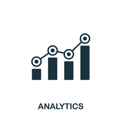 Analytics icon symbol creative sign from seo and vector