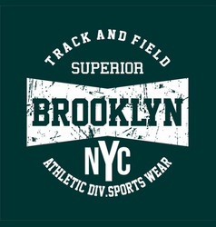 athletic sport new york city brooklyn typography f vector image