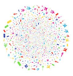 aviation attack fireworks globula vector image