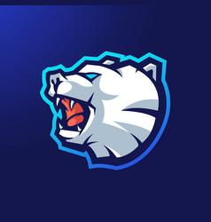 Bear sport logo vector