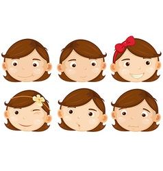 Brown hair girl vector