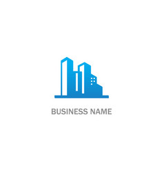 building realty business company logo vector image