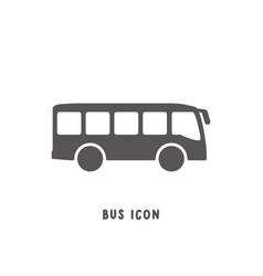 Bus icon simple flat style vector