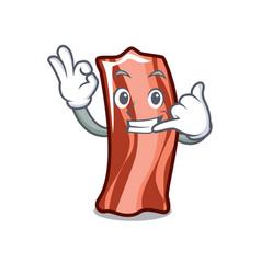 Call me ribs mascot cartoon style vector