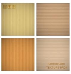 Cardboard textures set vector