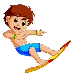Cartoon surfer boy vector