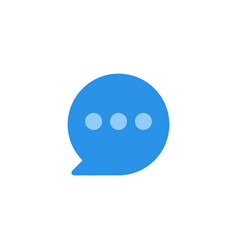 chat icon blue monochrome color vector image