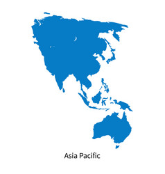 Detailed map asia pacific region vector